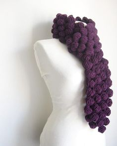 DIY Crochet Puff Ball Scarf 2