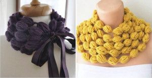 DIY Crochet Puff Ball Scarf