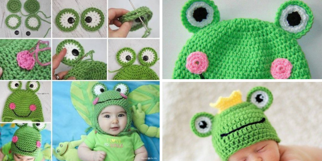 DIY Cute Crochet Frog Hat with Free Pattern