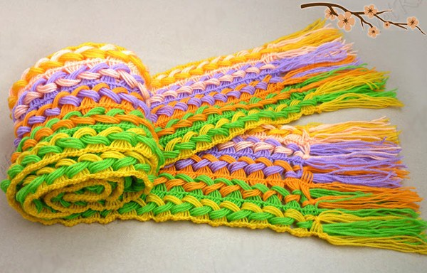 DIY-Hook-knit-scarf-free-pattern-and-tutroial7