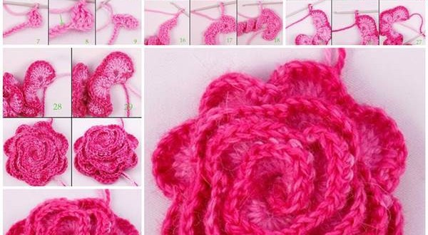 DIY Pretty Crochet Flower 3