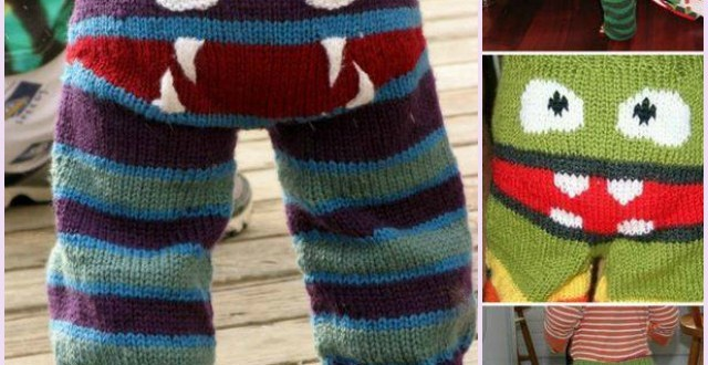 DIY adorable Knit Monster Pants