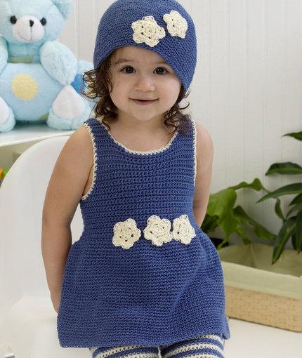 Darling-One-Piece-Romper-Hat-Crochet-Pattern-wonderfuldiy