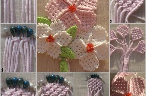Diy yarn woven flowers