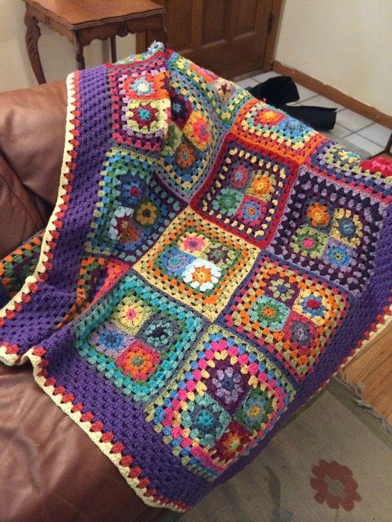 Floral Afghan Blanket 1