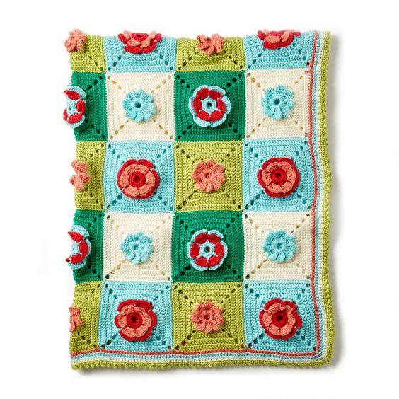 Floral Afghan Blanket 2
