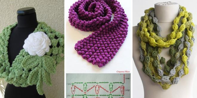 How To Crochet Popcorn Stitch Scarf