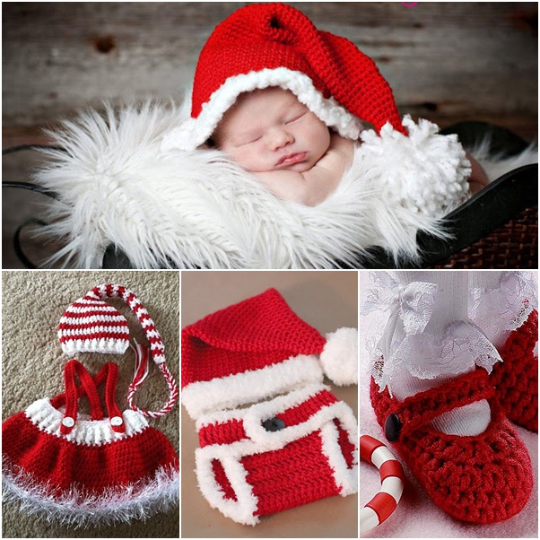 Diy Crochet Baby Christmas Sets Free Pattern