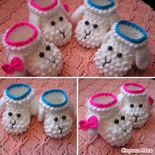 Crochet Animal Baby Booties Pattern : Crochet Baby Animal Booties with Free Patterns
