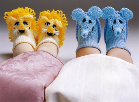 Lion-and-Elephant-slippers