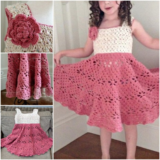 Little-Girls-Vintage-Crochet-Dress-wonderfuldiy