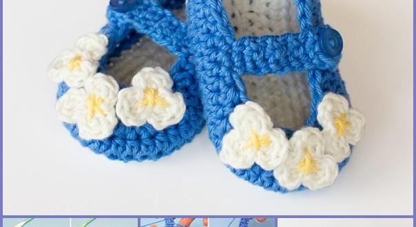 Mary Jane Baby Booties crochet pattern