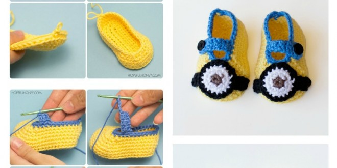 Minion Crochet Booties with Free Pattern