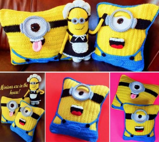Minion-Cushions-Free-Crochet-Patterns