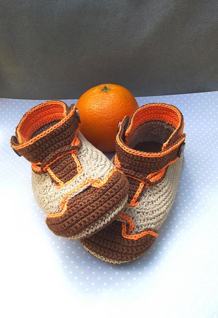 Nike-orange-crochet-booties