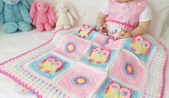 Owl Crochet Baby Blanket Ideas