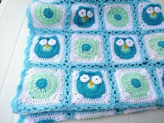 Owl croche baby blanket Ideas 1