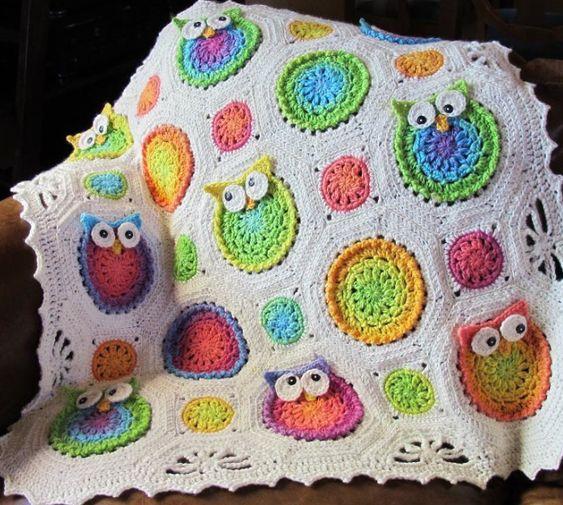 Owl croche baby blanket Ideas 2