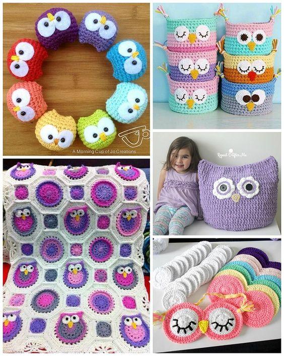 Owl croche baby blanket Ideas 5