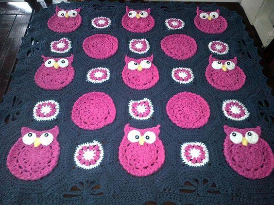 Owl croche baby blanket Ideas 6