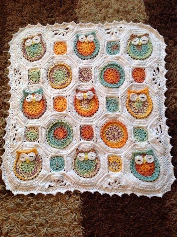 Owl croche baby blanket Ideas 7