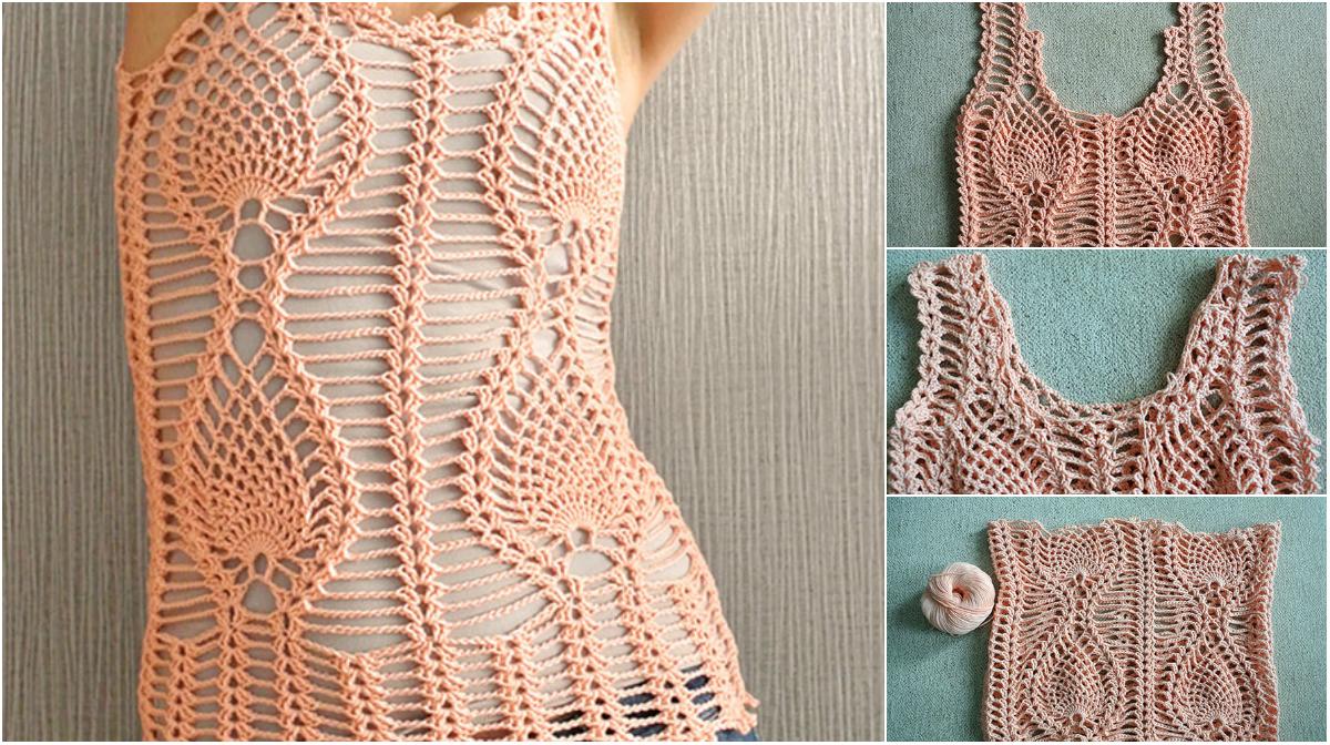 Pineapple-Crochet-Top