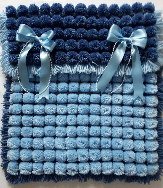 Pom Pom Baby Blanket 1