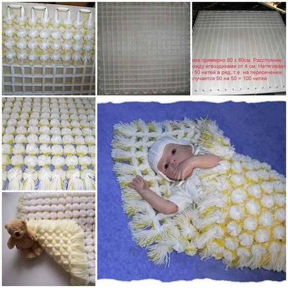 Pom Pom Baby Blanket 2