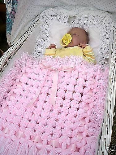 Pom Pom Baby Blanket 4