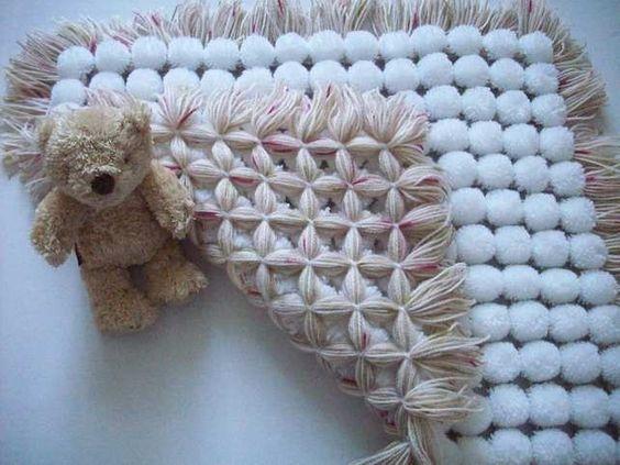 Pom Pom Baby Blanket 5