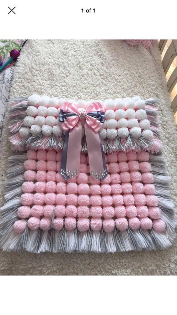 Pom Pom Baby Blanket 6