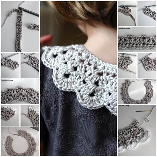 Diy Pretty Crochet Collar Free Pattern