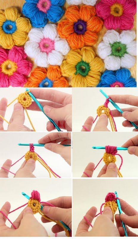Puff Flower crochet 4