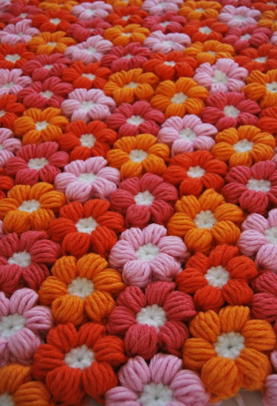 Puff Flower crochet 6