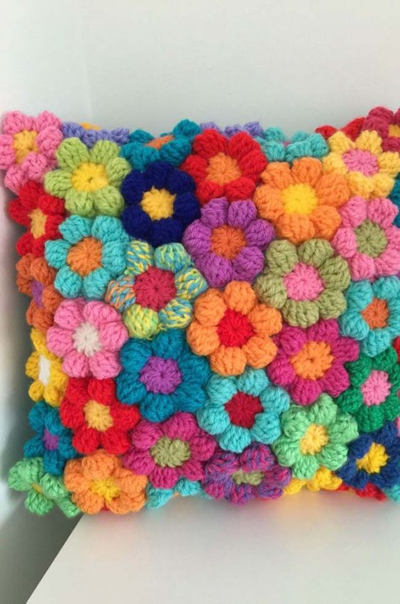 Puff Flower crochet 7