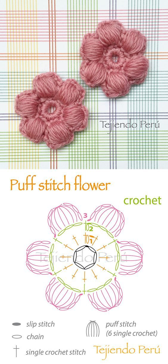 Puff Flower crochet