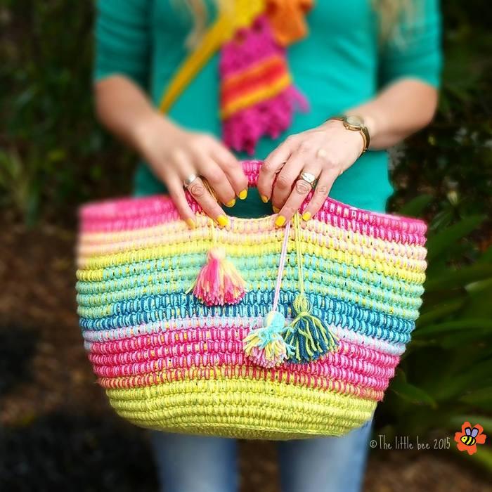 rainbow-rope-basket