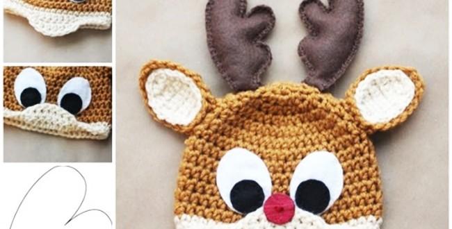 Reindeer Hat Free Crochet Pattern