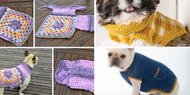 Simple Dog Sweater crochet