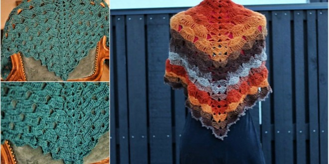Slow Waves Shawl