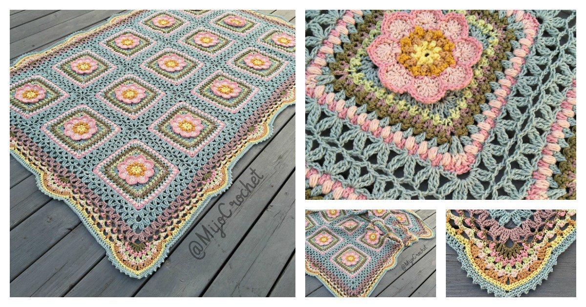 Floral Afghan Blanket