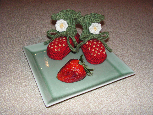Strawberry-booties