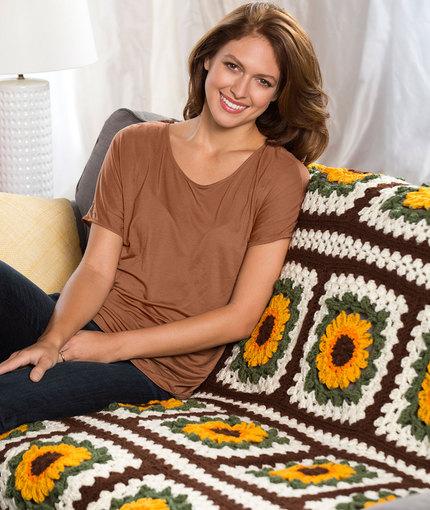 Sunflower-Pattern-for-living-room