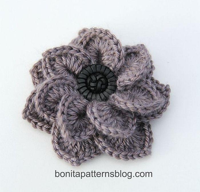 Textured-Flower-with-Button-Center