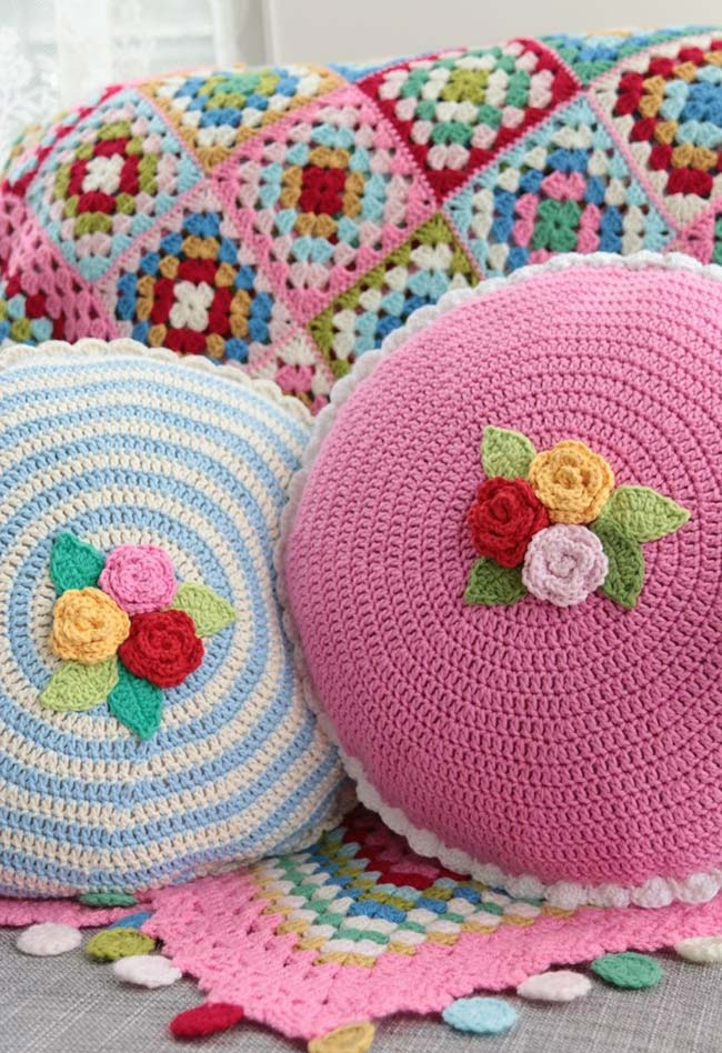 Using Flowers Croche