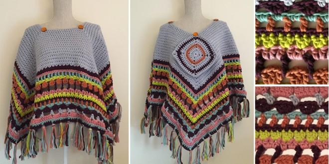 blanket poncho crochet