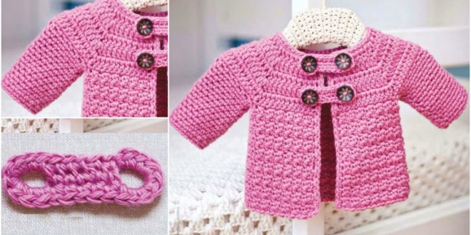 buttoned baby jacket