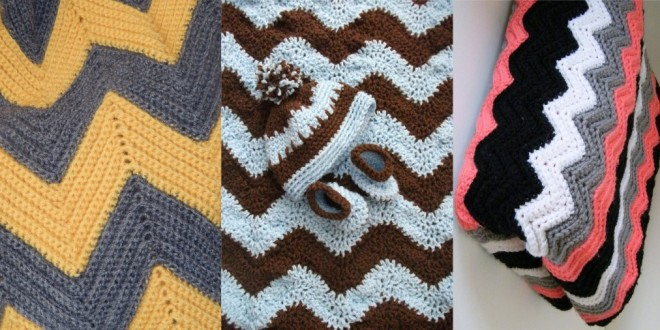 chevron blanket crochet
