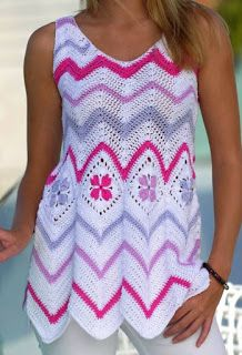 chevron top crochet ideas