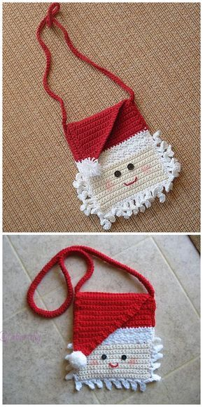 christmas crochet santa bag 1